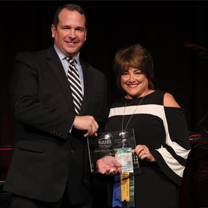 Karen Schroeder is awarded the 2016 Industry Advisory Board Member of the Year at the 2017 NAHB Student Chapters Awards Ceremony