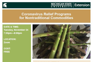Coronavirus relief programs for nontraditional commodities webinar to be held Tuesday, Nov. 24