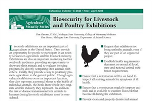 Biosecurity for Livestock and Poultry Exhibitions (E2843)