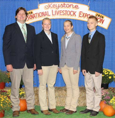 Michigan 4-H Keystone International team members Kyle Schoenborn, Mary Mulder, Shannon Veld and Tyler Rozema.