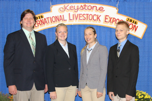 Three Michigan 4-H livestock judging teams competed this fall