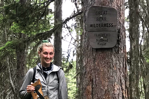Gillian Chirillo in Great Bear Wilderness, Flathead National Forest