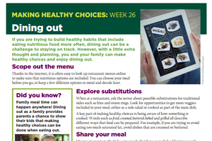 Making Healthy Choices: Week 26