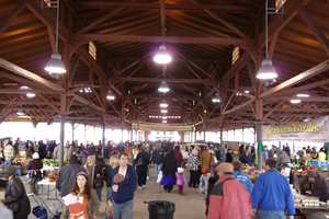 Detroit Eastern Market holds a year-round farmers market on Saturdays. Photo credit: John Kannenberg, Flickr.