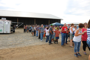 New attendance record set at the August 27 Breakfast on the Farm at Hartland Farms