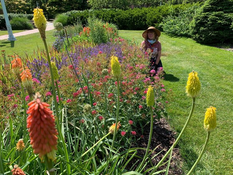 Bethany in the Perennial Garden
