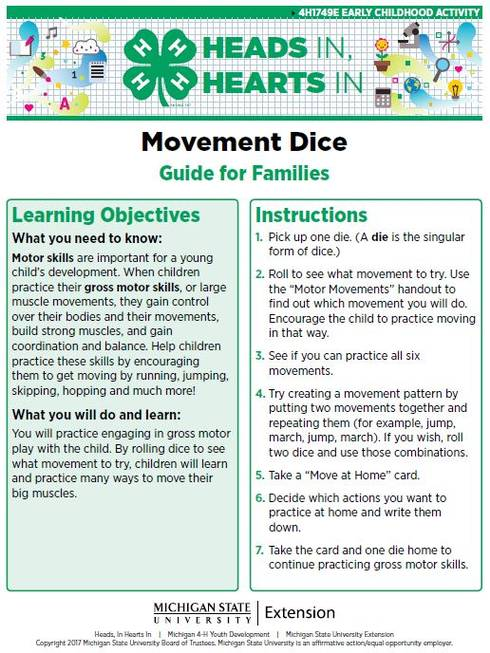 Movement Dice cover page.