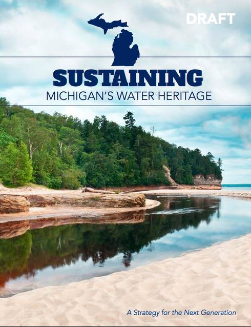 Cover of the Office of the Great Lakes official water strategy document. | Office of the Great Lakes