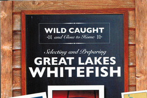 Great Lakes whitefish cookbook on sale for a short time