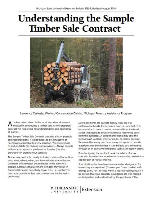 understanding the sample timber sale contract cover