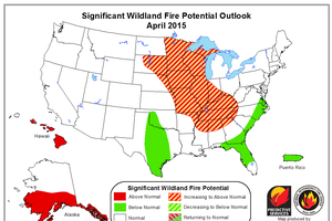 Michigan's Upper Peninsula predicted to have increased wildfire potential this spring