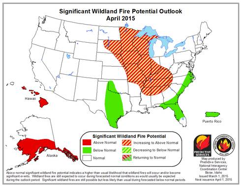 Significant Wildland Fire Potential Outlook; National Interagency Fire Center