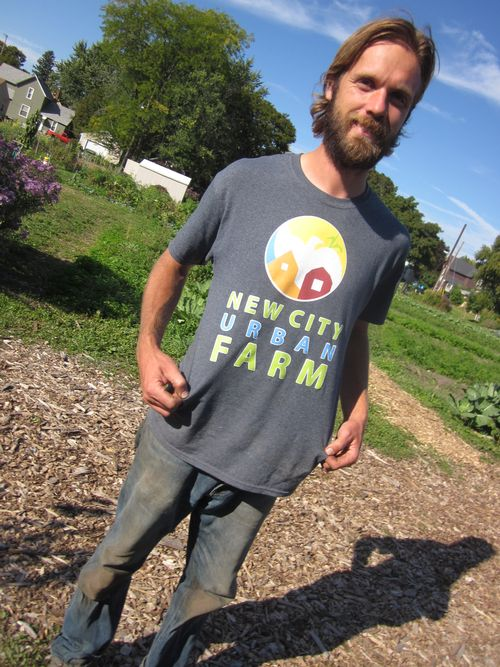 Lance Kraai, farm director of New City Neighbors' urban farm.