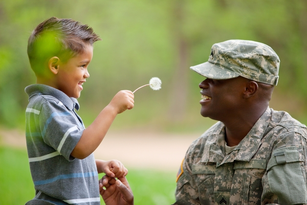 Deployment of a family member is a difficult time for children. Learn how to support them with these tips. Photo credit: MSU Extension