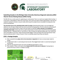 First page of the Michigan State University Veterinary Diagnostic Laboratory Submission Instructions.