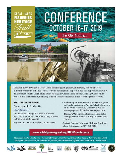 Flyer gives information about the Fisheries Heritage Trails Conference. Information on flyer is contained in article.