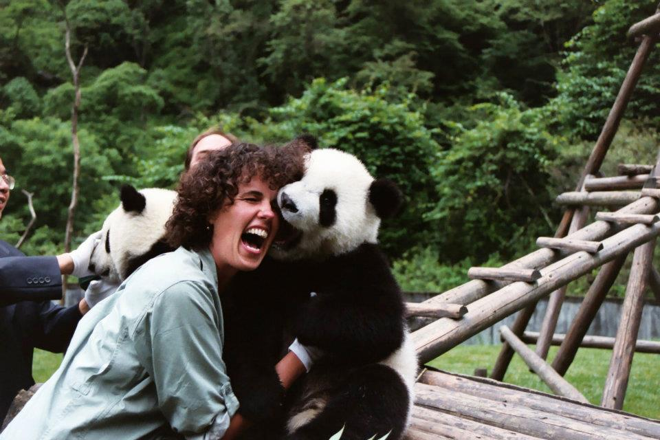 Sue Nichols and panda