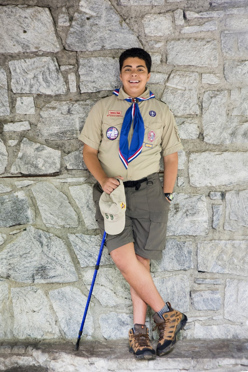 Cameron Webb in his Eagle Scout uniform