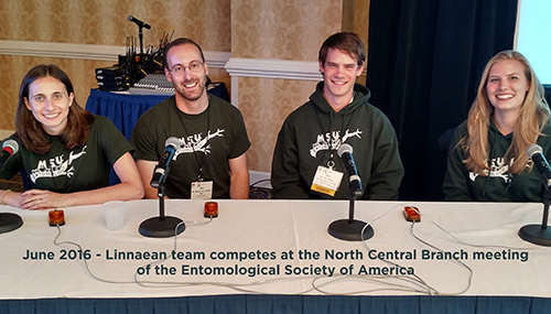 June 2016 - Linnaean team competes at the North Central Branch meeting of the Entomological Society of America