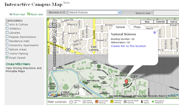 About Department Of Entomology - Interactive map msu