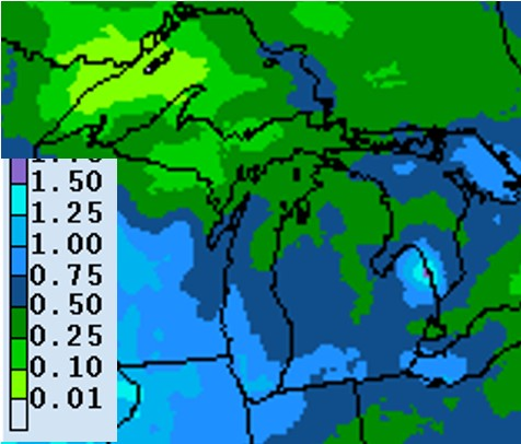 Precipitation forecast for May 21-28