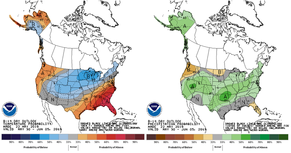 8-14 day outlook maps
