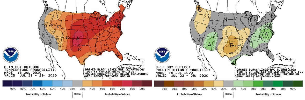 8-14 day (July 23-29) outlook