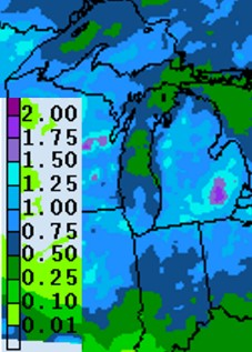 Precipitation forecast map