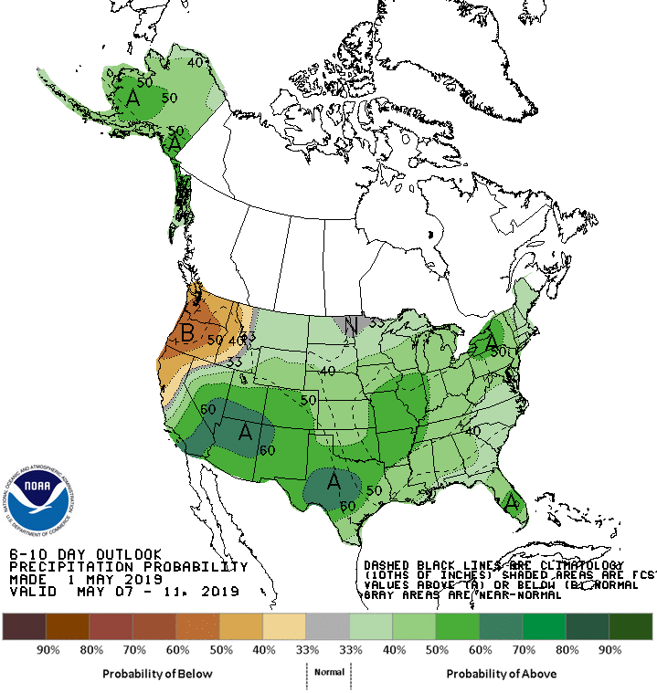 NOAA 6-10 Day Outlook