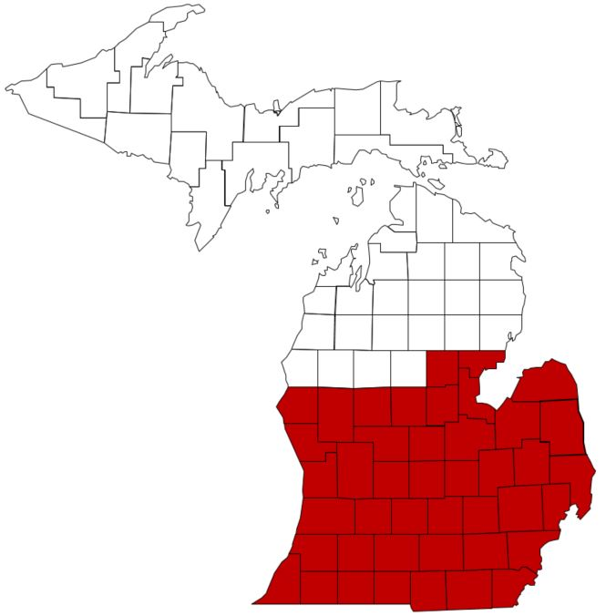 SCN in MI counties