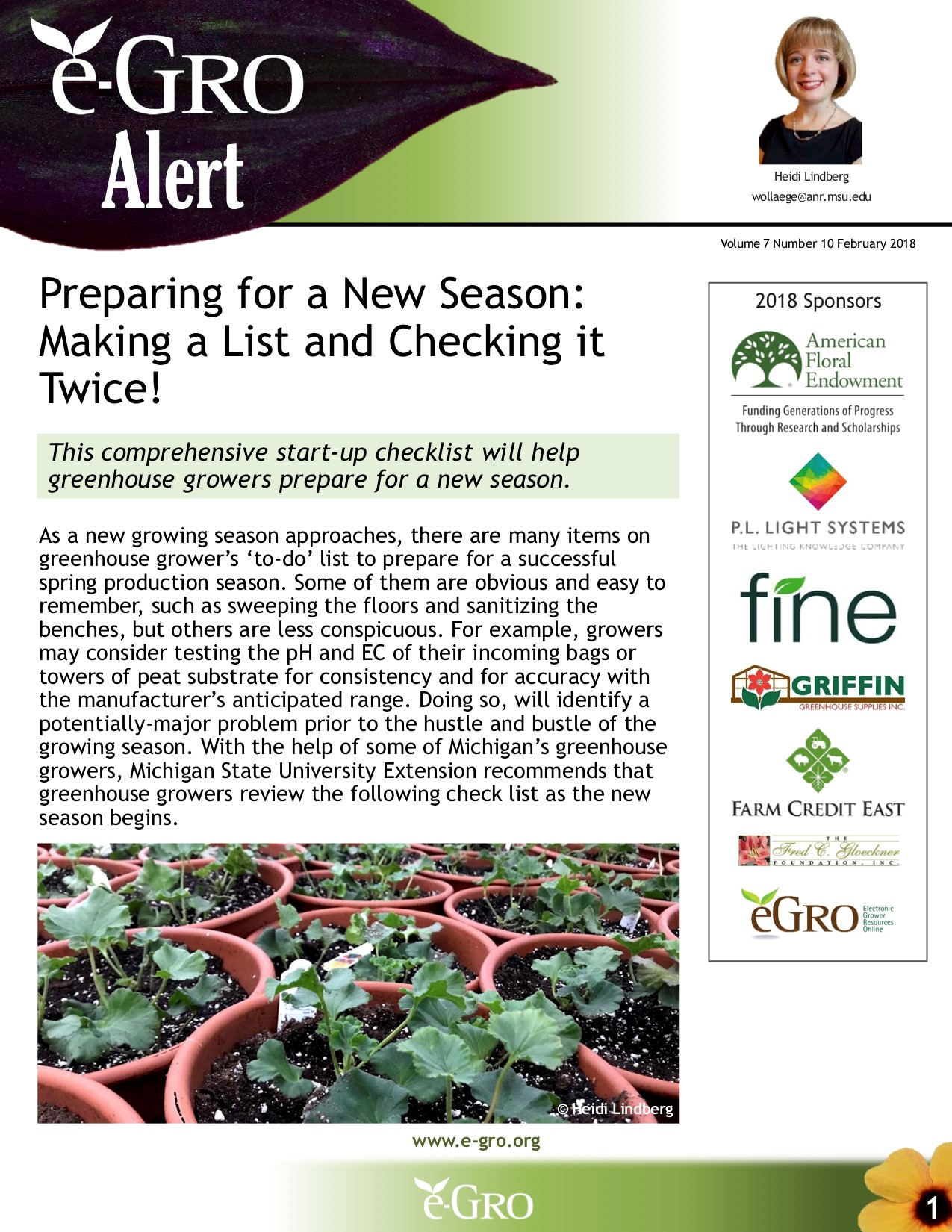 An example of MSU generated e-GRO Alerts.