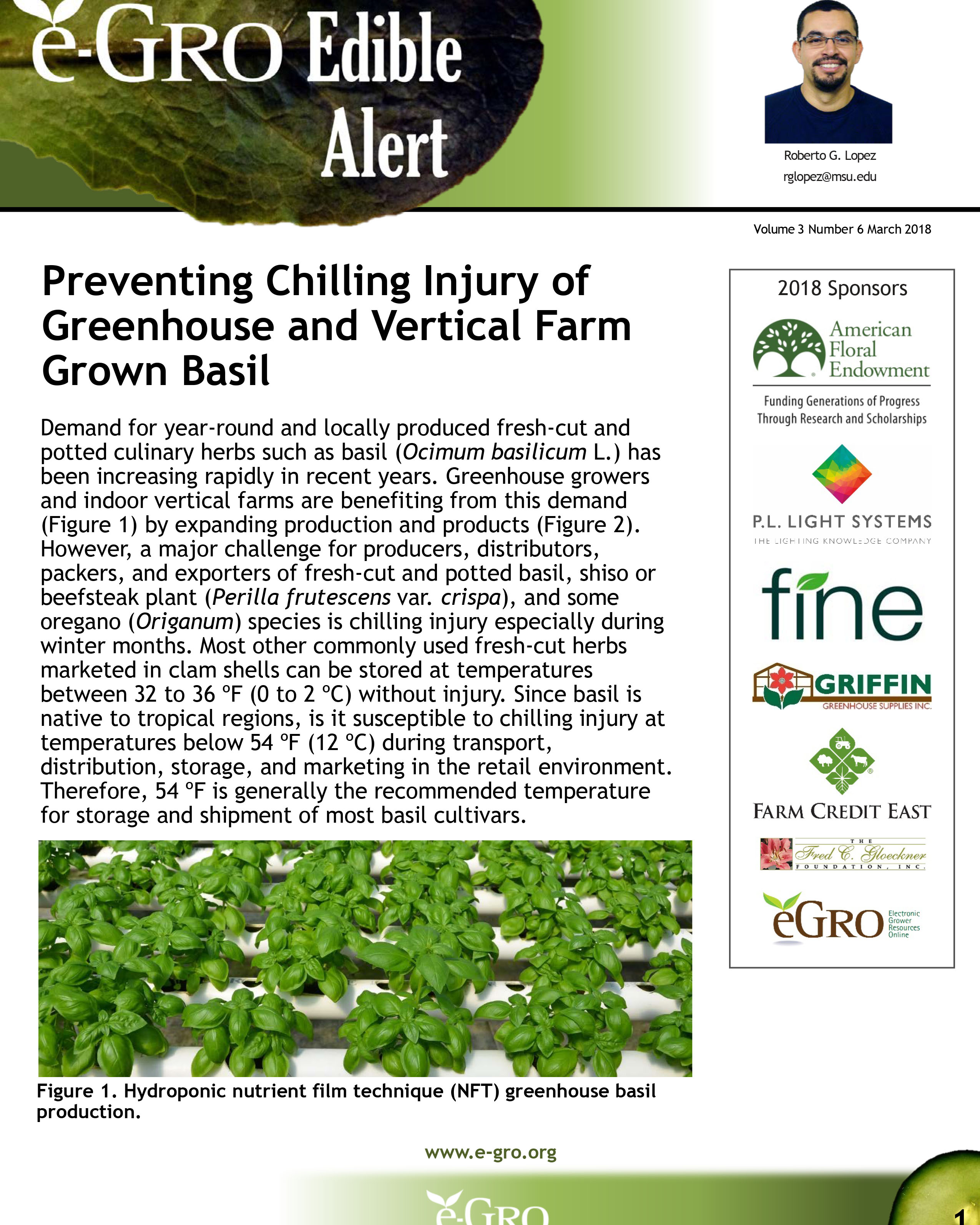 An example of MSU generated e-GRO Edible Alerts.