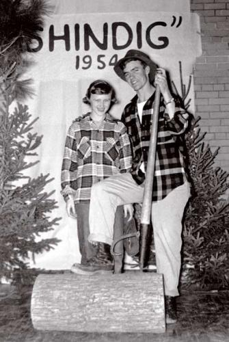 1954 MSU Forestry Shindig portrait a man and woman.