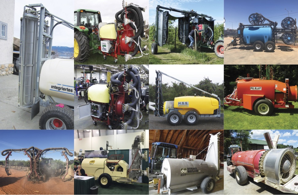 Different types of sprayers