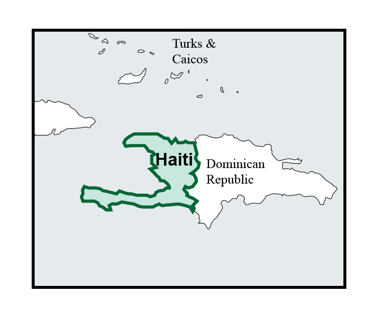 map of haiti pic