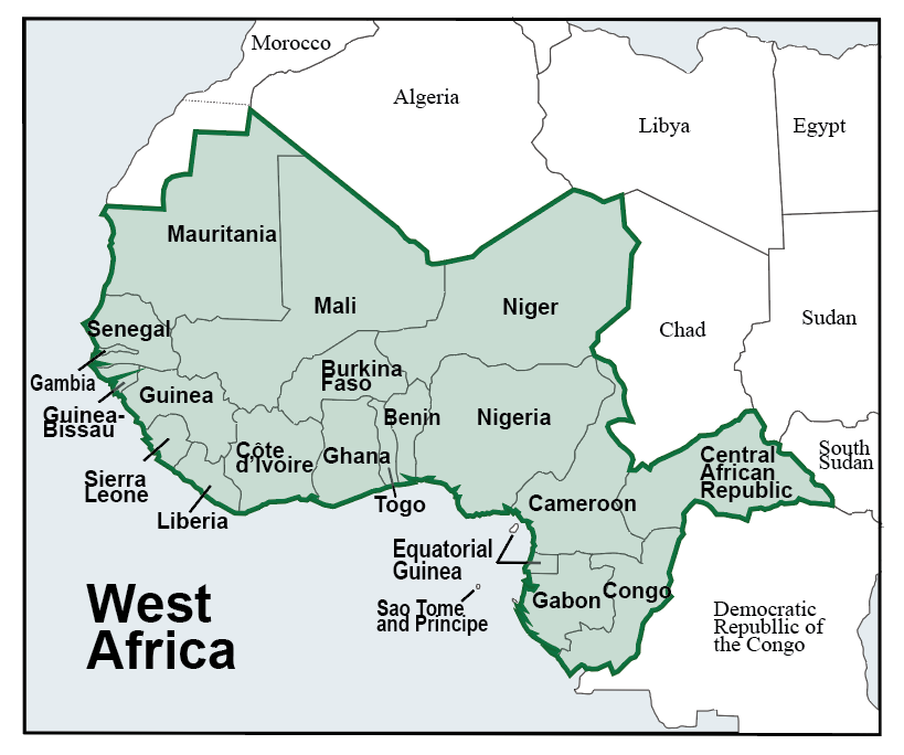 map of west africa pic