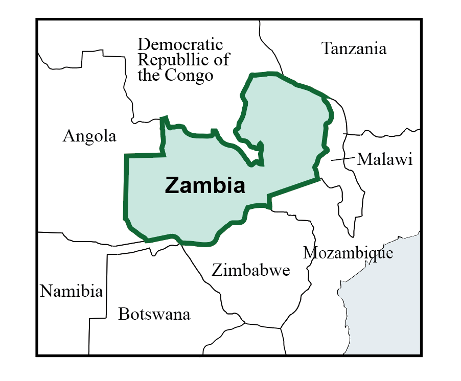 map of zambia pic