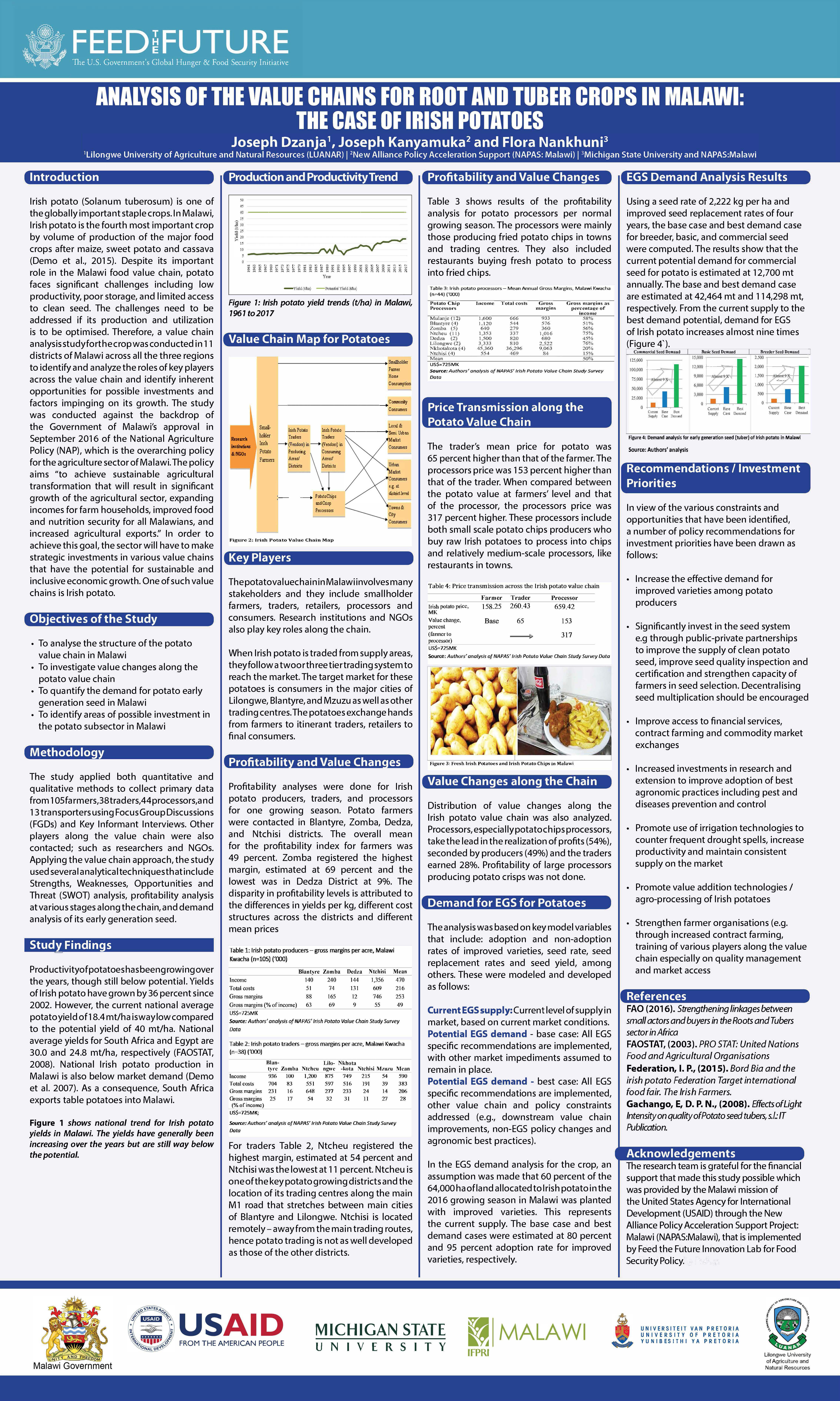 Malawi Potato Value Chain Poster - Feed the Future Innovation Lab