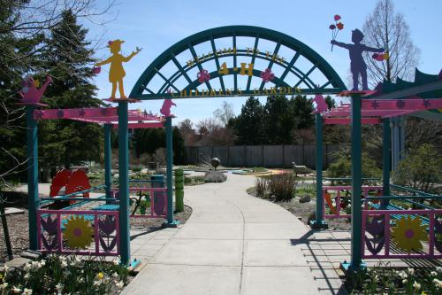 Archway into the 4h children's garden