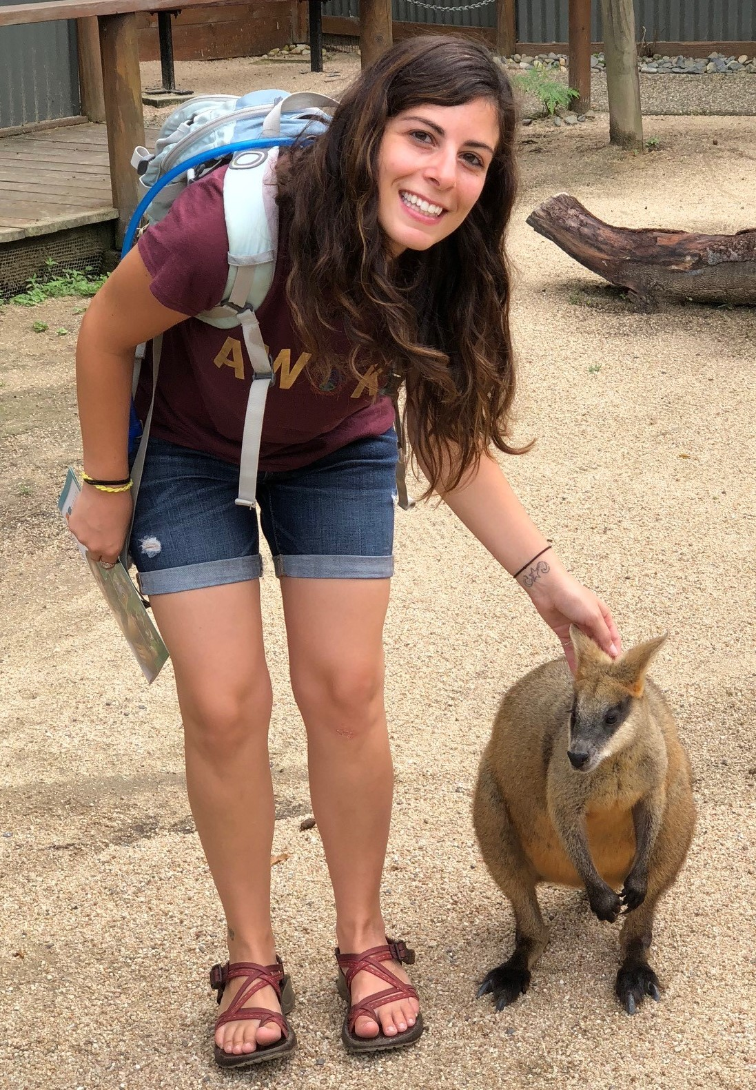 Lizz with wallaby