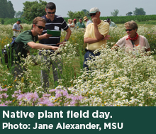 Native plant field day.