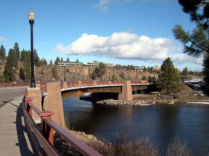 Photo of the bridge over Deschutes River in Bend, OR.