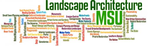 Landscape Architecture, MSU Wordle graphic - Careers In Landscape Architecture - School Of Planning, Design And
