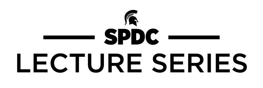 SPDC Lecture Series graphic element.