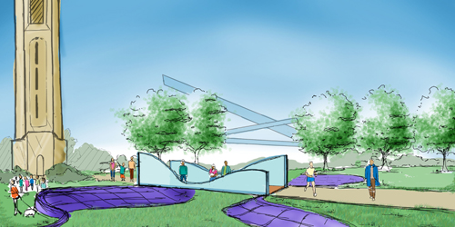 Rendering of a new garden for Belle Isle park in Detroit.