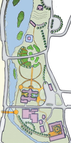 Belle Isle Park Curvillinear Site Plan Design