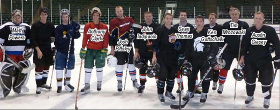 Photo of the Construction Management Hockey Team.
