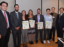 Students receive Michigan Chapter of the American Society of Landscape Architects awards.