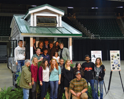 Group photo at the Sparty's Cabin Ribbon Cutting Ceremony.