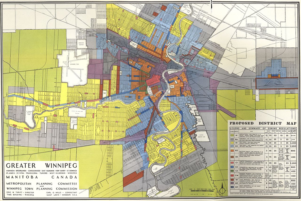 Zoning maps from Winnipeg.